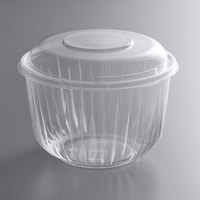 Dart C64BCD PresentaBowls 64 oz. Clear OPS Plastic Bowl with Dome Lid - 126/Case