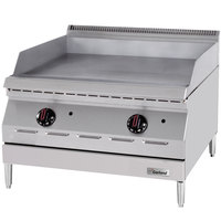 Garland GD-36GTH Designer Series Liquid Propane 36 inch Countertop Griddle with Thermostatic Controls - 60,000 BTU