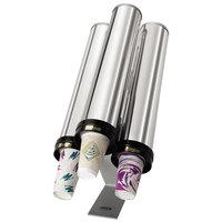 Tomlinson 1009316 Countertop Stainless Steel 4-Dispenser Z-Stand