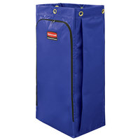 Rubbermaid 1966883 34 Gallon Blue High Capacity Vinyl Janitor Cart Bag