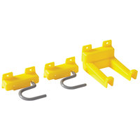 Rubbermaid FG199400YEL Closet Organizer / Tool Holder Accessory Kit with 2 S-Hooks and 1 Double Hook