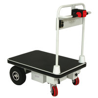 Wesco Industrial Products 272414 Battery-Powered 1100 lb. Platform Truck with 24 inch x 48 inch Platform - 24V