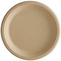 Tellus Products TE10F 6 inch Round Natural Bagasse Plate - 1000/Case