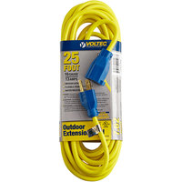 Voltec 05-00108 25' Yellow 16/3 3-Conductor SJTW Extension Cord - 300V