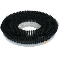 Carlisle 361500N22-5N Colortech 15 inch Black Nylon Rotary Medium Scrubbing Brush