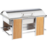 Cal-Mil 1473 Eco Modern 9 Qt. Stainless Steel Roll Top Chafer