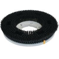 Carlisle 361200N28-5N Colortech 12 inch Black Nylon Rotary Stiff Scrubbing Brush