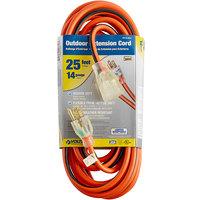 Voltec 05-00341 25' Orange/Black 14/3 3-Conductor SJTW Extension Cord - 300V