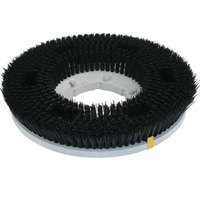 Carlisle 361300N28-5N Colortech 13 inch Black Nylon Rotary Stiff Scrubbing Brush