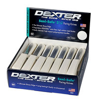 Dexter-Russell 15333 Sani-Safe 50-Pack 3 1/4 inch Smooth Paring Knives in a Display Box