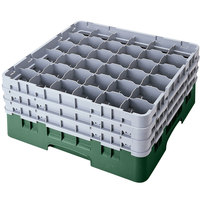 Cambro 36S958119 Sherwood Green Camrack 36 Compartment 10 1/8 inch Glass Rack