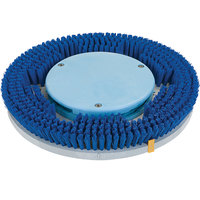 Carlisle 361200A18-5N Adjust-A-Glide 12 inch Blue Soft Bristle Rotary Carpet Cleaning Brush