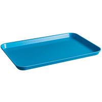 Cambro 1218MT142 12 inch x 18 inch Blue Fiberglass Market Tray - 12/Case