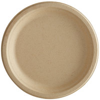 Tellus Products TE01F 9 inch Round Natural Bagasse Plate - 125/Case