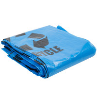 40-45 Gallon 40 inch X 46 inch Blue Tint Linear Low Density Recycling Bag 1.2 Mil - 100/Case