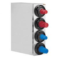 Tomlinson 1015935 Simpli-Flex 2100 Stainless Steel 4-Slot 3.5 - 44 oz. Countertop Cup Dispenser Cabinet