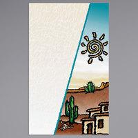 8 1/2 inch x 14 inch Menu Paper Cover - Southwest Themed Desert Design - 100/Pack