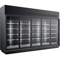 Master-Bilt BEM-5-30SC-B 154 inch Black Glass Door Refrigerated Merchandiser