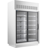 Master-Bilt BEL-2-30SC-W 62 inch White Glass Door Merchandiser Freezer