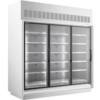 Master-Bilt BEL-3-30SC-W 92 inch White Glass Door Merchandiser Freezer