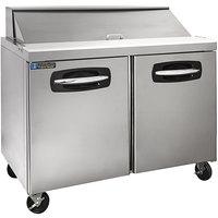 Master-Bilt MBSP48-12A-019 48 inch 2 Door Refrigerated Sandwich Prep Table