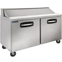Master-Bilt MBSP60-16A-019 60 inch 2 Door Refrigerated Sandwich Prep Table