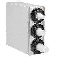 Tomlinson 1015904 Simpli-Flex 2100 Stainless Steel 3-Slot 3.5 - 44 oz. Countertop Cup Dispenser Cabinet