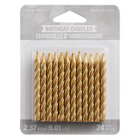 Creative Converting 339951 Gold Spiral Candle - 24/Pack