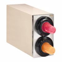 Tomlinson 1015599 Simpli-Flex 2100 Beige 2-Slot 3.5 - 44 oz. Countertop Cup Dispenser Cabinet