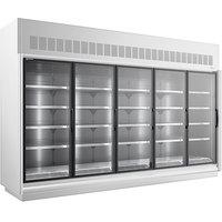 Master-Bilt BEM-5-30SC-W 154 inch White Glass Door Refrigerated Merchandiser