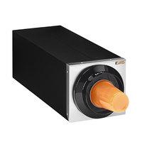 Tomlinson 1017024 Simpli-Flex 2100 Black 1-Slot 3.5 - 44 oz. Countertop Cup Dispenser Cabinet