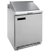 Delfield ST4427N-12M 27 inch 1 Door Mega Top Refrigerated Sandwich Prep Table with 4 inch Backsplash