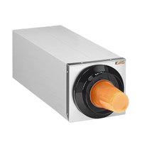 Tomlinson 1015936 Simpli-Flex 2100 Stainless Steel 1-Slot 3.5 - 44 oz. Countertop Cup Dispenser Cabinet