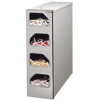 Tomlinson 1003993 4 Compartment High-Volume Aluminum Condiment Dispenser