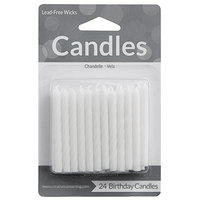 Creative Converting 10134 White Candle - 24/Pack