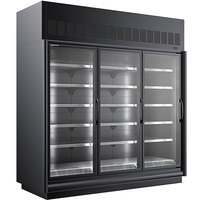 Master-Bilt BEM-3-30SC-B 92 inch Black Glass Door Refrigerated Merchandiser