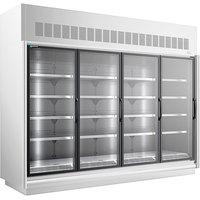 Master-Bilt BEM-4-30SC-W 123 inch White Glass Door Refrigerated Merchandiser
