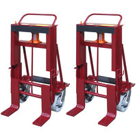 Wesco Industrial Products 260089 Rais-N-Rol 23 inch x 20 3/4 inch x 41 3/8 inch Machinery Mover with 8 inch Steel Casters - 8,000 lb. Capacity