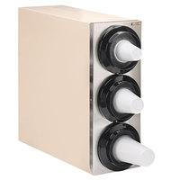 Tomlinson 1015598 Simpli-Flex 2100 Beige 3-Slot 3.5 - 44 oz. Countertop Cup Dispenser Cabinet