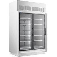 Master-Bilt BEM-2-30SC-W 62 inch White Glass Door Refrigerated Merchandiser
