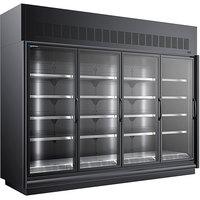 Master-Bilt BEL-4-30SC-B 123 inch Black Glass Door Merchandiser Freezer