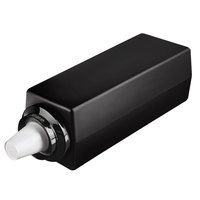Tomlinson 1015385 Simpli-Flex 2100 Black 1-Slot 3.5 - 44 oz. Adjustable Countertop Cup Dispenser Cabinet
