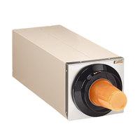 Tomlinson 1015600 Simpli-Flex 2100 Beige 1-Slot 3.5 - 44 oz. Countertop Cup Dispenser Cabinet