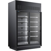 Master-Bilt BEM-2-30SC-B 62 inch Black Glass Door Refrigerated Merchandiser