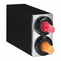 Tomlinson 1016022 Simpli-Flex 2100 Black 2-Slot 3.5 - 44 oz. Countertop Cup Dispenser Cabinet
