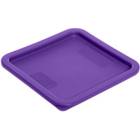 Carlisle 1074189 StorPlus Purple Allergen-Free Polyethylene Lid for 6 and 8 Qt. Square StorePlus Containers