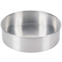 Baker's Mark 9 inch x 3 inch Aluminum Cheesecake Pan with Removable Bottom