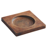Valor 6 1/4 inch x 6 1/4 inch Square Rubberwood Underliner with Rustic Chestnut Finish