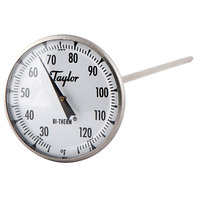 Taylor 8212J 8 inch Superior Grade Instant Read Probe Dial Thermometer 25 to 125 Degrees Fahrenheit
