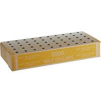 13 1/4 inch x 6 1/2 inch x 2 1/2 inch Coin Storage Box - $500, Half Dollars   - 50/Case